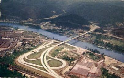 West Verginia Turnpike  - Kanawha City, West Virginia WV Postcard