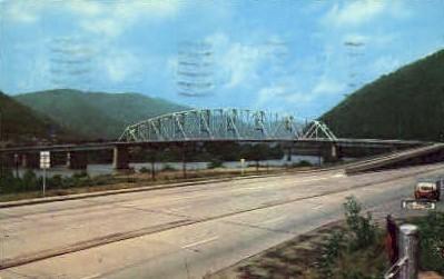 New Bridge  - Montgomery, West Virginia WV Postcard