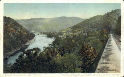 Baltimore & Ohio Railroad  - Great River Valley, West Virginia WV Postcard