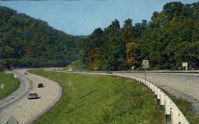 Interstate Highway  - Wheeling, West Virginia WV Postcard
