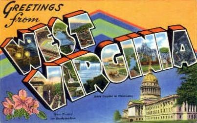 Panhandle State - MIsc, West Virginia WV Postcard