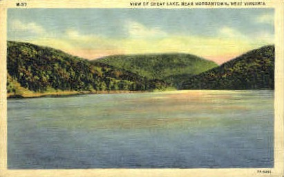 Cheat Lake - Morgantown, West Virginia WV Postcard