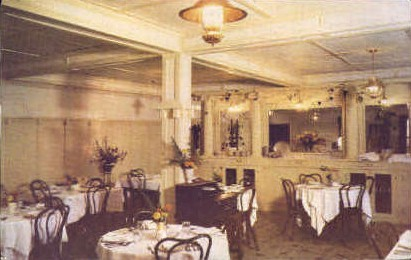 Dining Room  - White Sulphur Springs, West Virginia WV Postcard