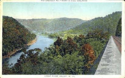 Baltimore & Ohio Railroad  - Cheat River, West Virginia WV Postcard