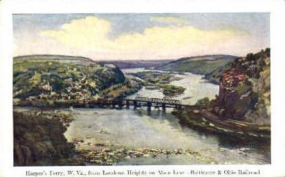 Baltimore & Ohio Railroad  - Harpers Ferry, West Virginia WV Postcard