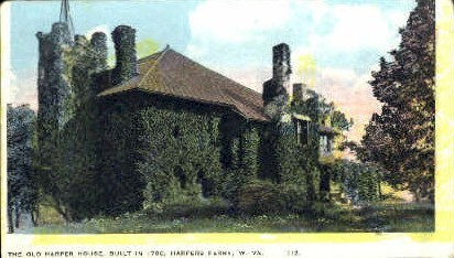 The Old Harper House - Harpers Ferry, West Virginia WV Postcard