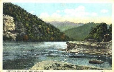New River, West Virginia, WV Postcard