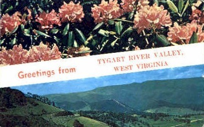 America's Mountain Wonderland - Tygart River Valley, West Virginia WV Postcard