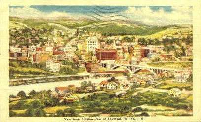Polatine Nob - Fairmont, West Virginia WV Postcard