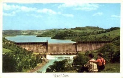 Tygart Dam  - Grafton, West Virginia WV Postcard