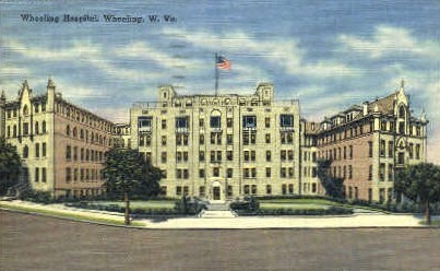 Wheeling Hospital  - West Virginia WV Postcard