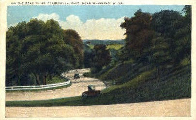 Road to St. Chairsville  - Wheeling, West Virginia WV Postcard