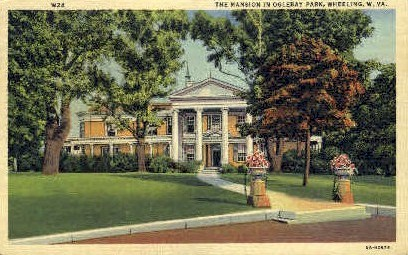 The Mansion in Oglebay Park - Wheeling, West Virginia WV Postcard