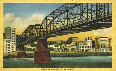 Skyline - Wheeling, West Virginia WV Postcard