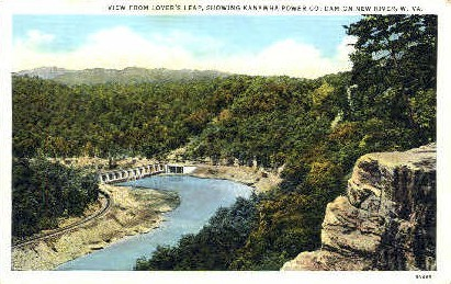 From Lover's Leap - New River, West Virginia WV Postcard