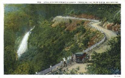 Appalachian Scenic Highway  - Blue Ridge Mountains, West Virginia WV Postcard