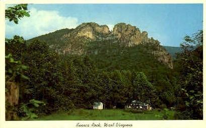 Seneca Rocks - Monongahela National Forest, West Virginia WV Postcard