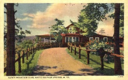 Kate's Mountain Club - White Sulphur Springs, West Virginia WV Postcard