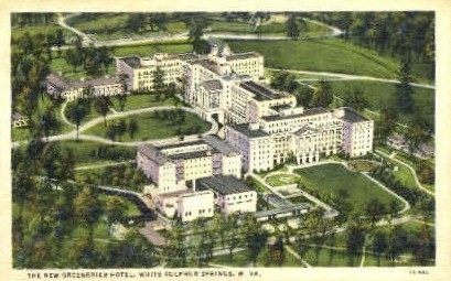 The New Greenbrier Hotel  - White Sulphur Springs, West Virginia WV Postcard