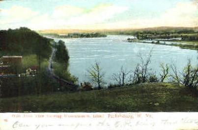 Ohio River  - Parkersburg, West Virginia WV Postcard