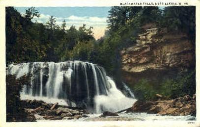Blackwater Falls - Elkins, West Virginia WV Postcard