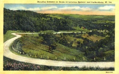 Route 14 - Spencer, West Virginia WV Postcard