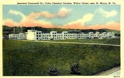 American Cyanamid Co. - Willow Island, West Virginia WV Postcard