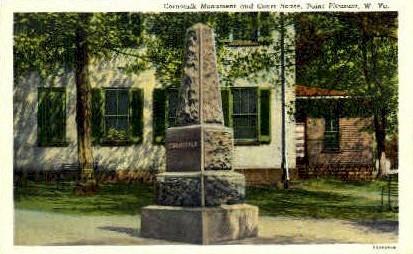 Cornstalk Monument & Court House - Point Pleasant, West Virginia WV Postcard
