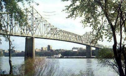 Skyline  - Huntington, West Virginia WV Postcard