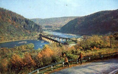 Shenandoah River Joins the Potomac - Harpers Ferry, West Virginia WV Postcard