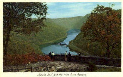 Hawks Nest & New River Canyon  - Ansted, West Virginia WV Postcard