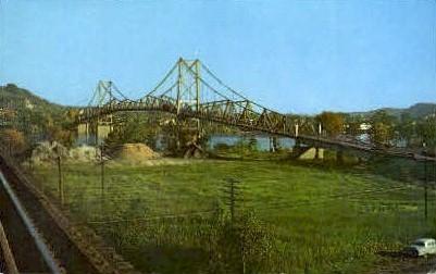 Silver Bridge Across the Ohio River - Point Pleasant, West Virginia WV Postcard