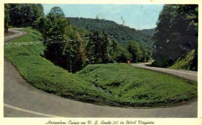 Horseshoe Curve - Grafton, West Virginia WV Postcard