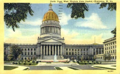 West Virginia State Capitol  - Charleston Postcard