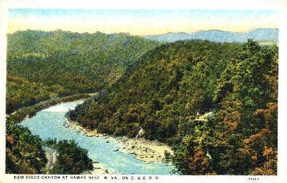 The New Canyon  - Hawk's Nest State Park, West Virginia WV Postcard