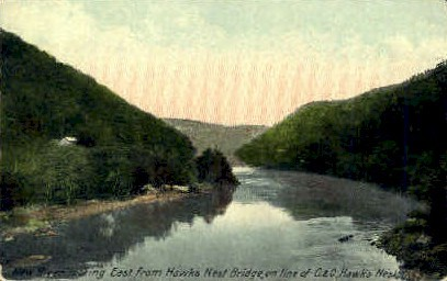 New River    - Hawk's Nest State Park, West Virginia WV Postcard
