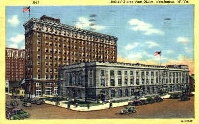 United States Post Office  - Huntington, West Virginia WV Postcard