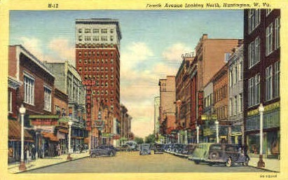 Forth Avenue  - Huntington, West Virginia WV Postcard