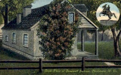 Birthplace of Stonewall Jackson - Charleston, West Virginia WV Postcard