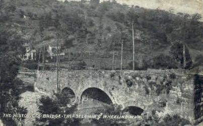 S. Bridge  - Traidelphia, West Virginia WV Postcard