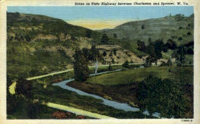 State Highway - Charleston, West Virginia WV Postcard