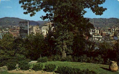 Downtown Charleston  - West Virginia WV Postcard