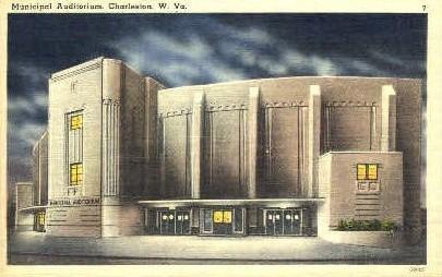 Municipal Auditorium  - Charleston, West Virginia WV Postcard