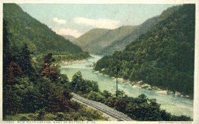 New River Canyon  - Nuttall, West Virginia WV Postcard