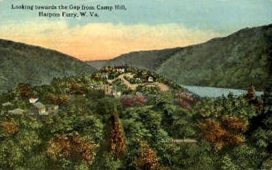 The Gap from Camp Hill  - Harpers Ferry, West Virginia WV Postcard