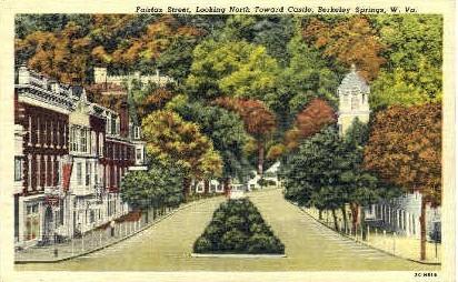 Fairfax Street  - Berkeley Springs, West Virginia WV Postcard