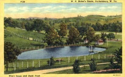 W.H. Bickel's Estate  - Parkersburg, West Virginia WV Postcard