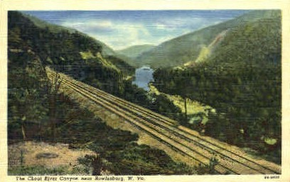 The Cheat River Canyon  - Rowlesburg, West Virginia WV Postcard