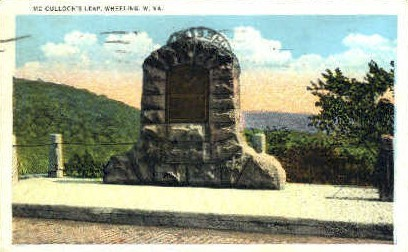 MCColloch's Leap - Wheeling, West Virginia WV Postcard