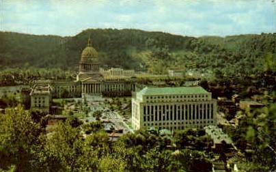 State Capitol and New Office Building  - Charleston, West Virginia WV Postcard